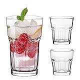 Lav Drinkglazen set 18 stuks, 3 maten 305 ml, 300 ml, 200 ml geschikt voor de gastronomie, stapelbaar, vaatwasmachinebestendig, klassieke cocktailglazen, pokalglas