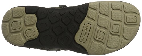Northland Mia Leathers, Sandales Bout Ouvert Femme Vert (Olive/camel)