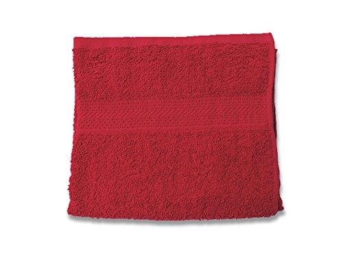 Soleil d'ocre 431101 Douceur Serviette de Toilette Coton Rouge 50 x 90 cm