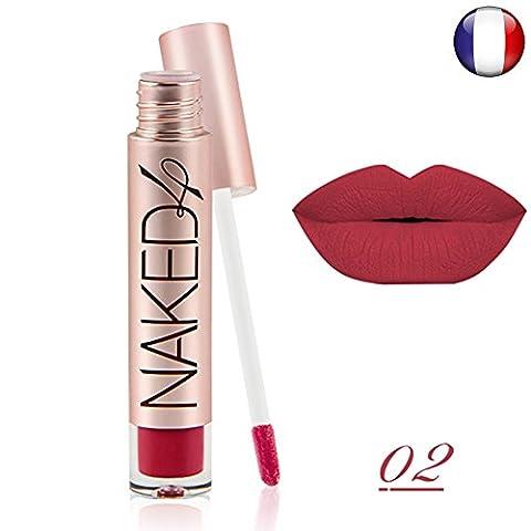 Rouge à lèvre mat waterproof semi permanent longue durée