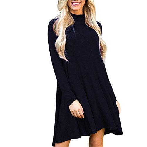 """Elegante Vestito, Reasoncool Casual maniche lunghe nuova delle donne sexy Autunno Inverno sera del partito del mini vestito dal maglione (M-Busto:34.7"""", Marina Militare)"""