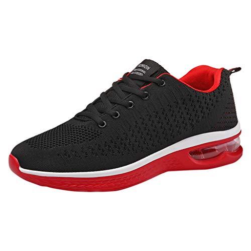 SHE.White Laufschuhe mit Luftkissen Damen Herren Sportschuhe Straßenlaufschuhe Sneaker Outdoor Turnschuhe Leichte Atmungsaktiv Fitnessschuhe -