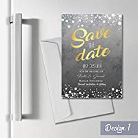 Personalised Magnetic Wedding Save the Date Cards A6 Fridge Magnets + Envelopes