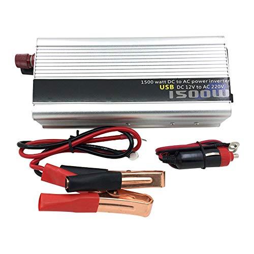 CAPTIANKN 800W Power Inverter, Peak 1500 Watts 12 VDC to 110V/220V, 1 Universal AC Socket 1 USB Port,24vto110v 800w 800 Watt Power Inverter
