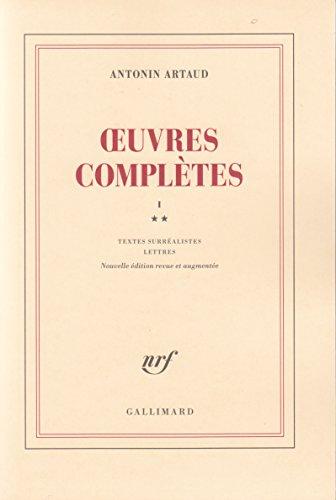Oeuvres complètes, tome 1, volume 2 par Antonin Artaud