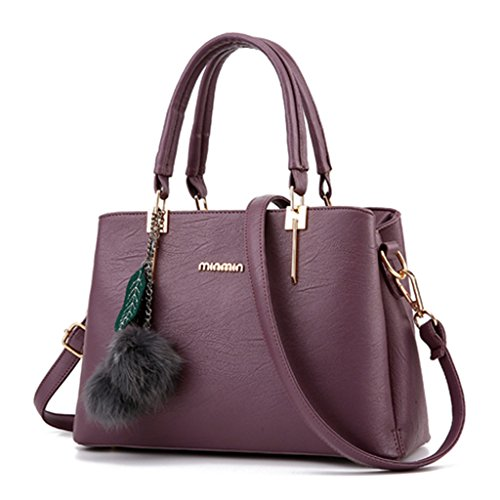 FK , Damen Rucksackhandtasche Violett
