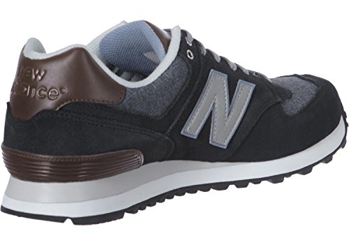 New Balance 486871 60, Baskets Basses Homme, Grau / Braun Noir