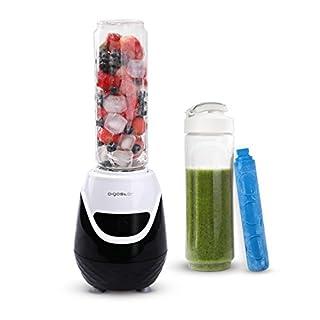 Aigostar Blackberry 30JDH - Mini Standmixer 600W Smoothiemaker mit 1 kühl Stock, 2 Reisesportflaschen und 2 Deckel, Tritan Material in Lebensmittelqualität, BPA-frei, 600 ml, EINWEGVERPACKUNG