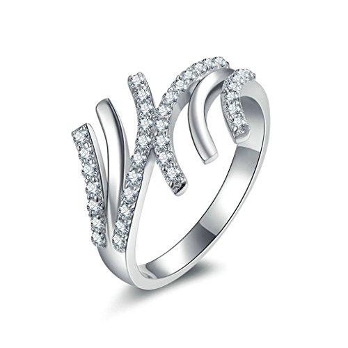 Daesar Silberring Damen Ring Silber Ehering für Damen Verlobungsring Benutzerdefinierte Ring Pfote Strass Ring Größe:50 (Benutzerdefinierte Design Schmuck Kostüme)