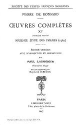 Oeuvres, tome 15 : Sixième et septième livres des poèmes, 1569