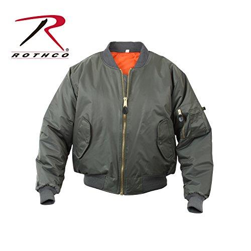 Rothco Kids Ma-1 Flight Jacket-Sage -
