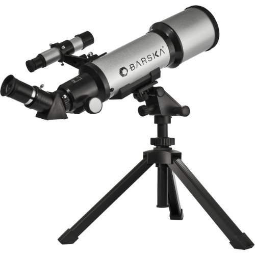 Barska Teleskop 40070 Refractor, silber, 34.3  x  9.5  x  9.5, AE10100 (Fernglas Barska)