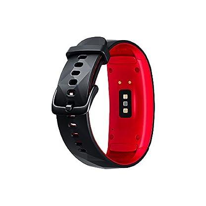 Modelabs Samsung Gear Fit 2 Pro – Seguidor de Actividad con Monitor de Ritmo cardiaco, Talla Large, Rojo [Versión importada: Podría presentar Problemas de compatibilidad]