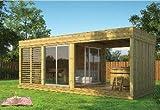 Garten-Pavillon aus Holz von 8m² bis 21m²