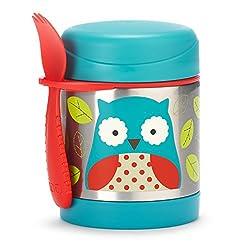 Skip Hop Aufbewahrungsbehälter, für Essen aus Edelstahl, isoliert, Eule Otis, mehrfarbig
