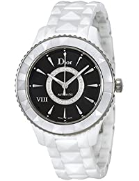 dd022622e75 Dior VIII Cadran noir Diamant Blanc en céramique montre femme Cd1245e3 C005