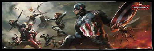 Capitán América Póster Puerta Marco Plástico -