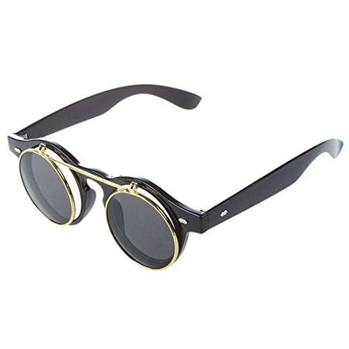 TOOGOO (R) Gafas Estilo Steampunk De Goth Del Vintage Gafas De Sol para Cosplay De Color Leopardo