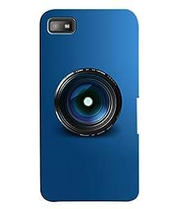 Fuson 3D Printed Lens Designer Back Case Cover for Blackberry Z10 - D816