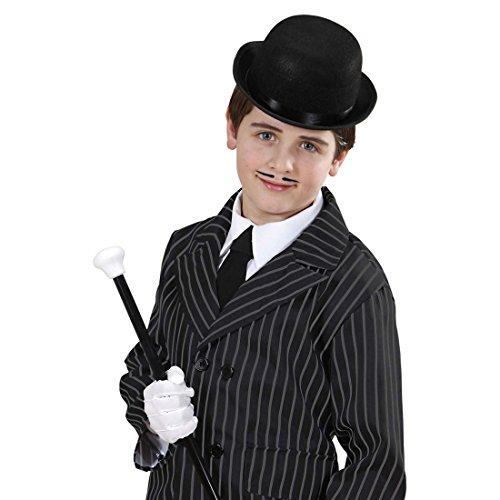 (NET TOYS Bowler schwarz Melone Hut Kinder Chaplin Filzhut Gangster Kinderhut Mafia Kopfbedeckung 20er Jahre Accessoire Karneval Kostüm Zubehör)