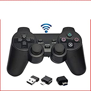 LDQLSQ PUBG Mobile Game Controller,Mobile Game Controller 2,4 G Wireless Gamepad Joystick-Computer, Dual-Vibration, PC/Android-Handy, Tablet, TV-Box