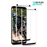 LIAOINTEC S8 Plus Displayschutzfolie, Full Coverage (3D Curved) / Case Friendly/Full Coverage/Anti-Bubble/Einfache Installation für Samsung Galaxy S8 Plus (2er Pack)