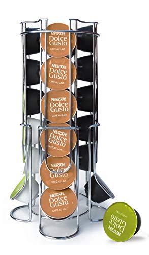 Maxxo Soporte de cápsulas de café Dolce Gusto (24 piezas) Dispensador Torre para repuestos para cafeteras Dolce Gusto