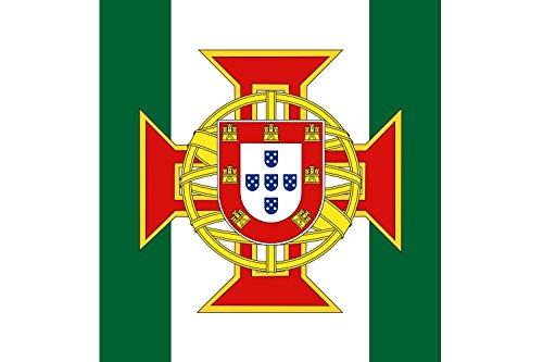 DIPLOMAT Flagge Portuguese Colony Governor | Portuguese Colony Governor later Overseas Province Governor | Governador da Colónia Portuguesa | Querformat Fahne | 0.06m² | 20x30cm für Diplom