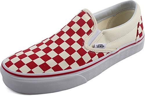 Vans - Unisex-Erwachsene Classic Slip-ON Schuhe, 36, (Primary Check) Racing Red/White