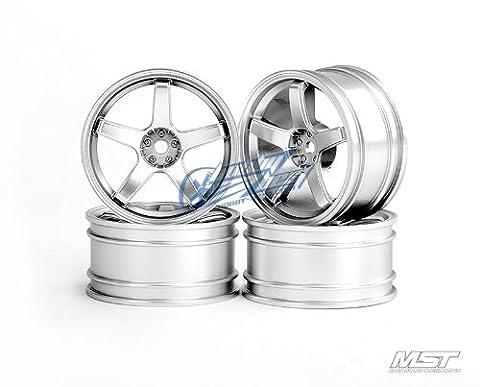 MST 102017FS Flat silver 5 spokes wheel (+3) (4)