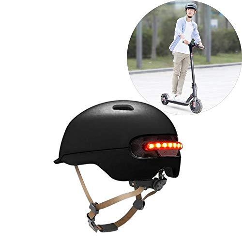 Dedeka Casque de vélo avec lumière LED pour XIAOMI M365, Casque de vélo de Banlieue Classique, Skate/Multisports avec 12 ventilations pour Scooter de Planche à roulettes électrique