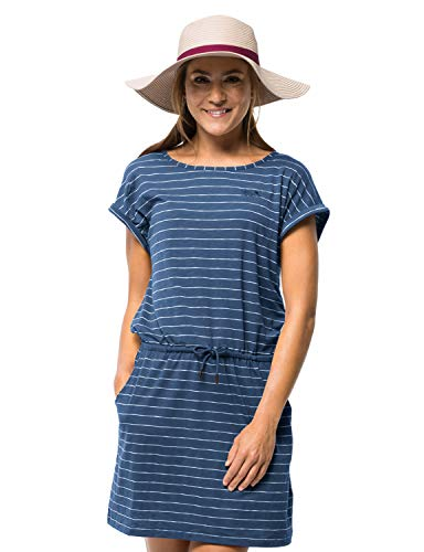 Jack Wolfskin Damen Travel Striped Kleid, Ocean Wave Stripes, L -