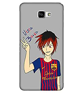 Takkloo Visa barsa ( cartoon guy, guy in blur t shirt, Grey Background, funny quote) Printed Designer Back Case Cover for Samsung Galaxy J5 Prime