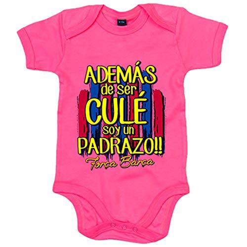 Body bebé además de ser del Barcelona soy un padrazo - Rosa, 6-12 me