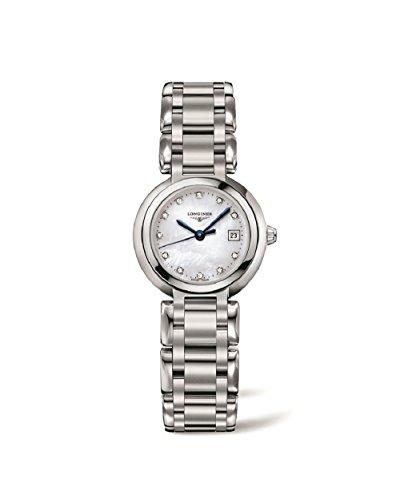 Longines Primaluna Bianco Quadrante In Madreperla in acciaio inox orologio da donna L81104876by Longines