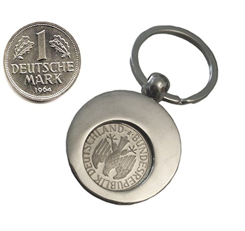 WallaBundu Geschenkidee zum 55. Geburtstag. 1 DM von 1964 im Münzhalter (auch für Einkaufswagen). Echte Münze aus Umlauf und Taschenkalender als Nachdruck. Originell angewandte Nostalgie…