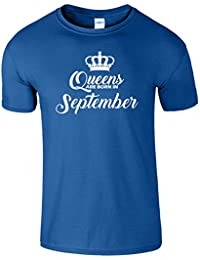 Queen Are Born In September Pour gamins Anniversaire TShirt