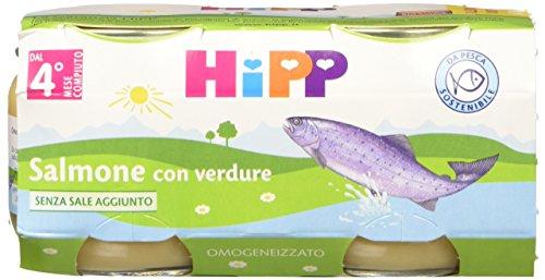 Hipp Omogeneizzato Salmone con Verdure 24 vasetti da 80 g