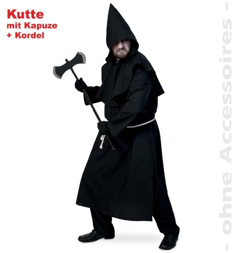 FASCHING 11919 Kostüm Inquisitor Kutte +Kapuze Halloween NEU/OVP: Größe: XXXL