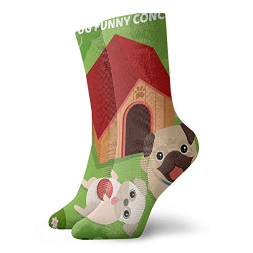CVDGSAD Pug Funny Concept Adult Short Socks Cotton Fun Socks for Mens Womens Yoga Hiking Cycling Running Soccer Sports