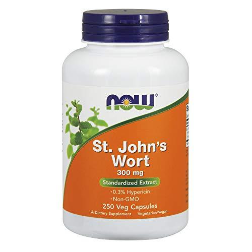 Now Foods I St.Johns Wort (Johanniskraut) 300mg I 0,3% Hypericin I Vegetarisch I Vegan I 250 Kapseln