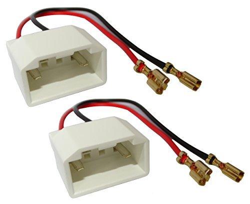 Aerzetix - 2 Lautsprecher Adapter Lautsprecher-Anschlussstecker für Auto