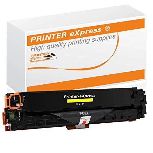 Printer-Express XXL 1.800 Seiten Toner ersetzt HP CF212A, CF 212A, 131A, 131X Toner für HP LaserJet Pro 200 Color M251, M251N, M251NW, M276, M276N, M276NW Drucker gelb