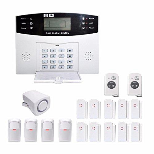 Wokee LCD-Sicherheits-drahtloses mobiles G/M SMS Selbstwählbares casa oficina Diebstahlsicherung Antirobo Intruder Autodial Haus-Haus-Einbrecher-Einbruchalarm