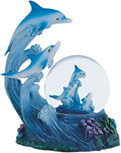 Snow Globe Dolphin Collection Desk Figurine Decoration