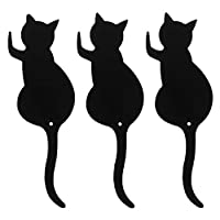 ZHOUBA 3Pcs Metal Cat Tail Wall Door Hook Key Hanger Home Kitchen Decorative Holder