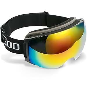 ezgoo skibrille snowboardbrille schneebrille verspiegelt mit anti fog uv schutz austauschbarer. Black Bedroom Furniture Sets. Home Design Ideas