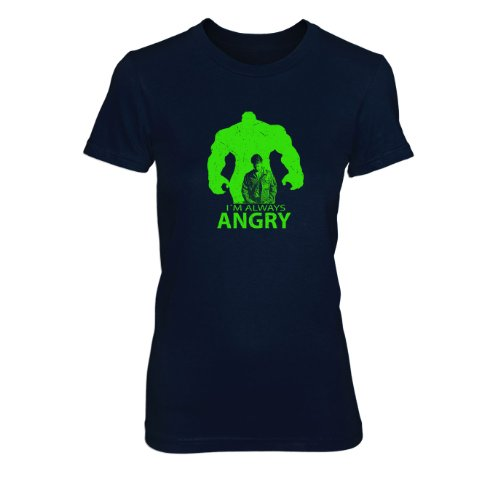 I'm always Angry - Damen T-Shirt Dunkelblau
