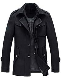 YOUTHUP Manteau Homme Laine Hiver Chaud Trench-Coat Caban élégant Blouson  Parka Veste Slim Fit 911592ca7081