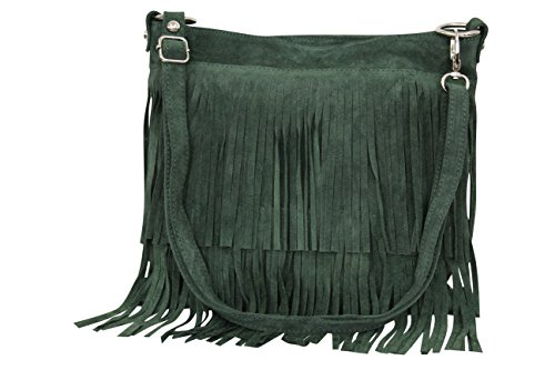 56c8bc6194 Ambra Moda borsa a mano donna borsa a tracolla a frange usato Spedito  ovunque in Italia